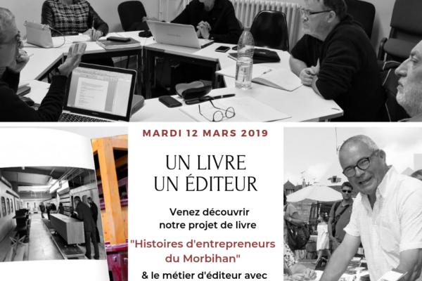 Le point sur le projet livre et témoignage de notre éditeur le 12 mars 2019